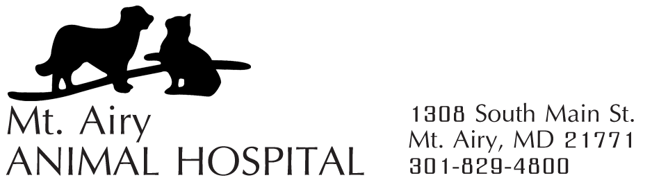 Logo for Mt. Airy Animal Hospital in Mt. Airy, Maryland.